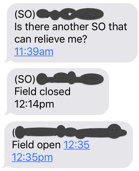 SOs trying to field open